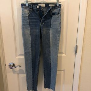 Pacsun 24, color block mom jeans cropped 24